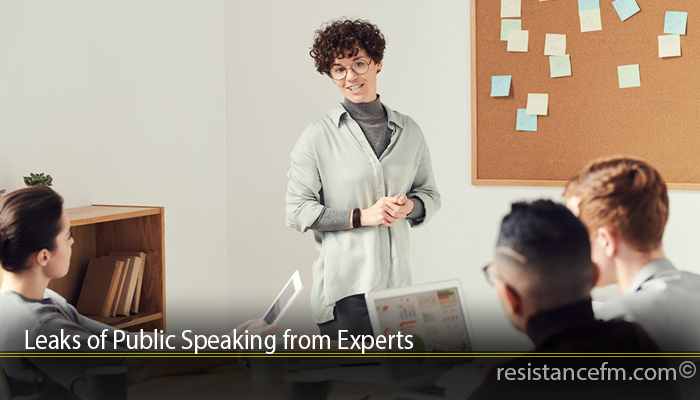 Leaks of Public Speaking from Experts